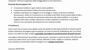 Avetrana : Vacca e Petracca invitano Manduria a coinvolgere altri paesi per la questione marine