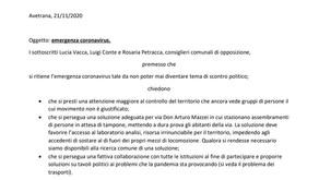 Avetrana : I consiglieri d'opposizione scrivono al Sindaco sull'emergenza covid