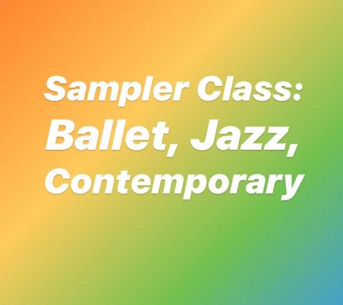 Monday 3:15 Dance Sampler for 6-10 yr olds- Online