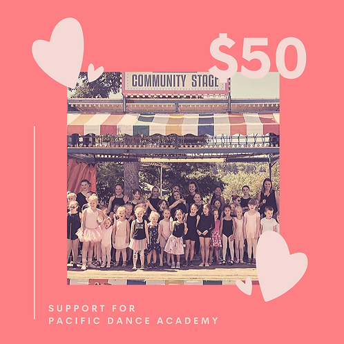 Support Pacific Dance Academy with a $50 donation