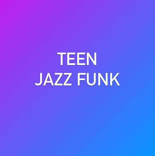 Wednesday 6:15pm Jazz Funk for Teens