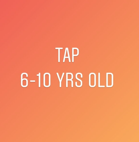 Wednesdays 5pm Tap for 6-10 year olds In Studio