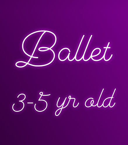 Wednesday 5:15 Ballet for 3-5 yr olds- Online