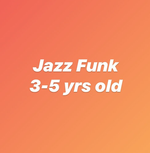 Thursday 4:15pm Jazz Funk for 3-5 year olds Online