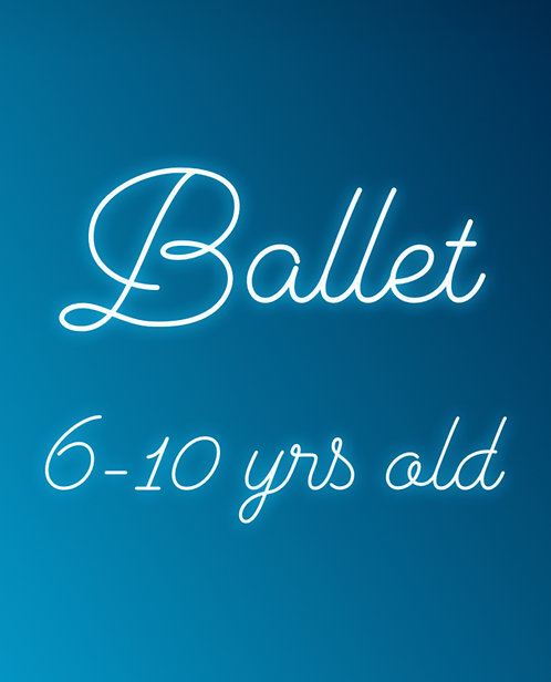Monday 4:15pm Ballet for 6-10 yrs old- Online