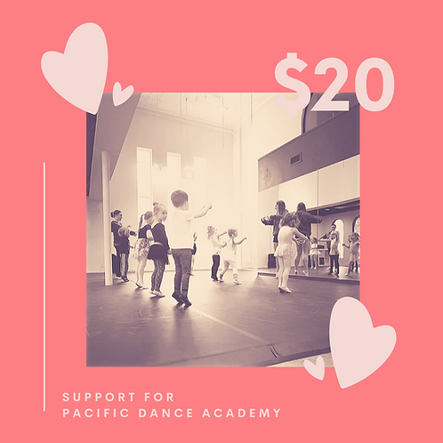 Support Pacific Dance Academy with a $20 donation