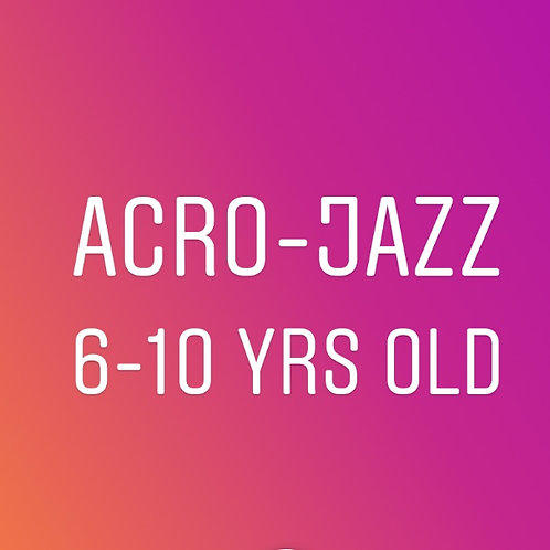 Wednesday 3pm Acro Jazz for 6-10 years old-In Studio
