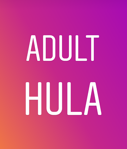Adult Hula: Tuesdays 7pm In Studio (8 weeks)