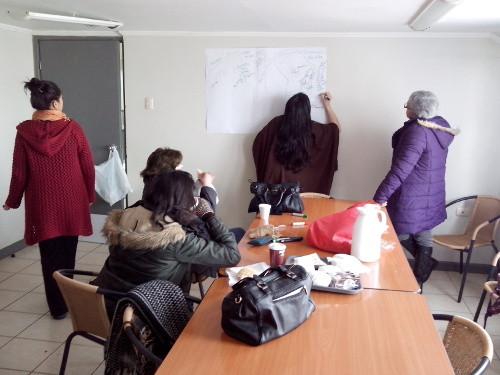 rabajo en grupo de mujeres de Santa Bárbara – Quilaco