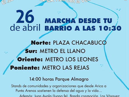 Colectivo VientoSur se suma entusiasta y combativo a la marcha por el Agua