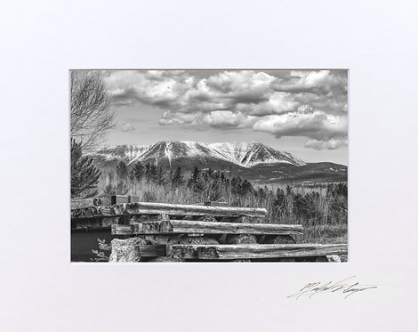 Mount Katahdin, from the Appalachian Trail, 5x7 Print matted to 8x10