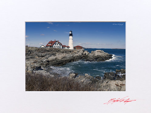 Portland Head Lighthouse, 5x7 Print matted to 8x10