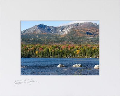 Hamlin Peak, Baxter State Park, 5x7 Print matted to 8x10