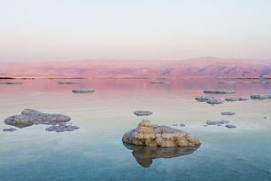 Beautiful photo coast of the Dead Sea ,