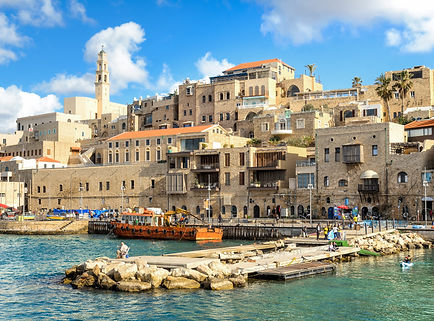 A picturesque view to Jaffa old city and