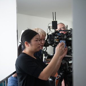 Director Sarah and DP Barbie setting up a shot. Photo by Jameka Autry