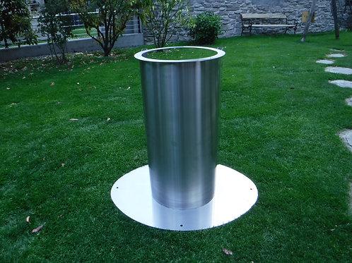 Option pied pour grande bonbonne de gaz 100% inoxydable : Art 020
