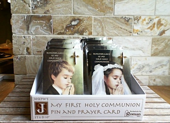 First Holy Communion Pin & Prayer Card