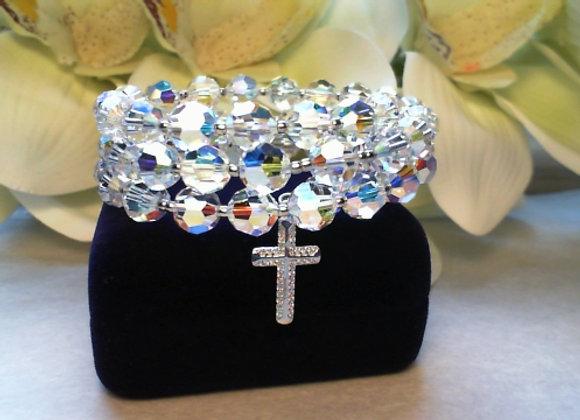 Women's Swarovski Crystal Rosary Bracelet