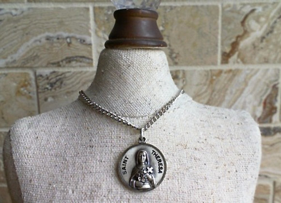 St. Therese of Lisieux Medal & Chain Set