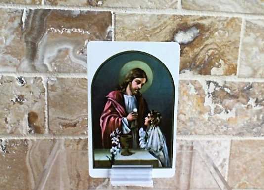 First Communion Prayer Card - Girl