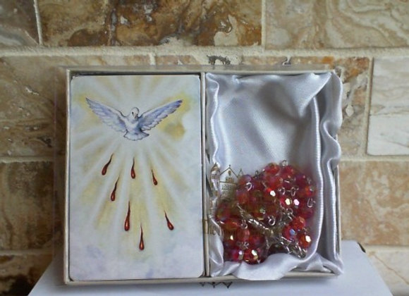 Holy Spirit Prayer Card with Rosary