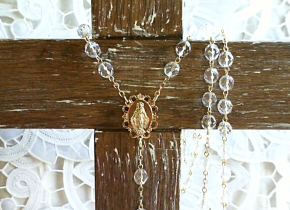 Rosary - Crystal & Gold Colour