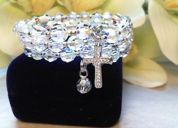 Child's Rosary bracelet made of Swarovski Crystal