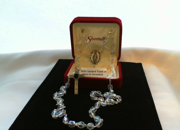 Rosary - Crystal & Pewter with Relic