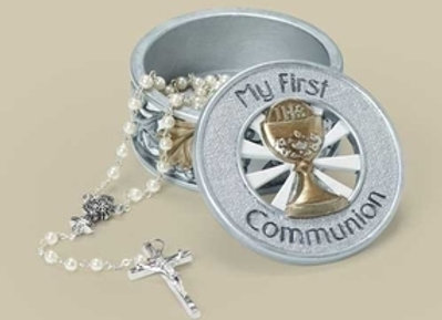 First Communion Rosary or Keepsake Box