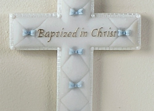 Boy's Baptismal Wall Cross