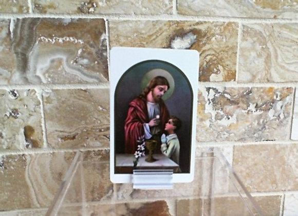 First Communion Prayer Card - Boy