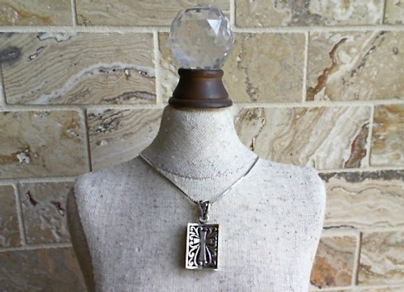 Sterling Silver Chain with Bible Charm