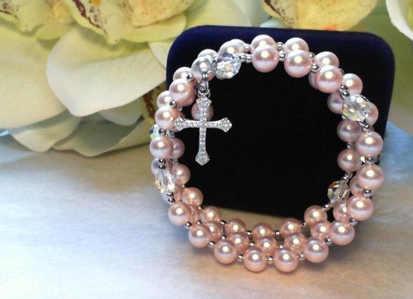 Child's Rosary Bracelet made with Swarovski Crystal's