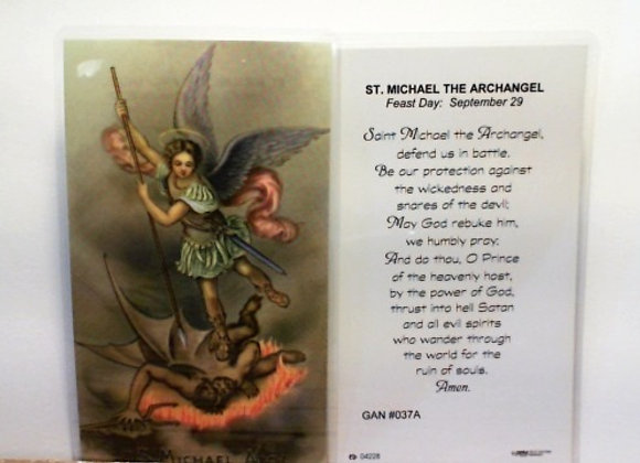 Prayer Card to St. Michael