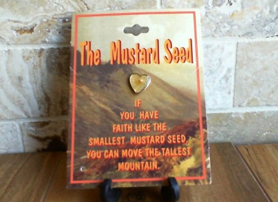 The Mustard Seed Heart Pin