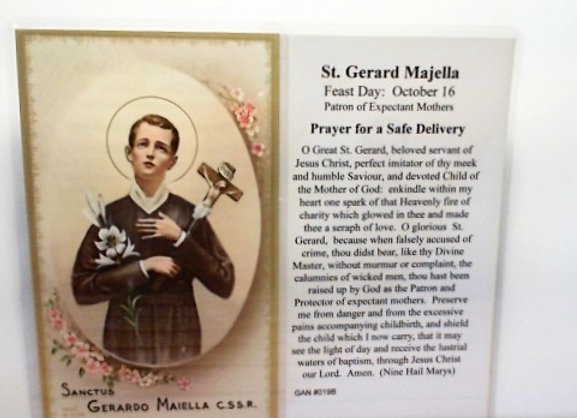 Prayer to St. Gerard for a Safe Delivery