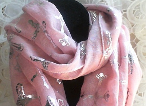 Infinity Scarf with Crosses