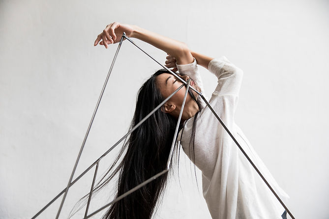 dance, performance, art, dancer, woman, geometric, sculpture, hair, minimalistic