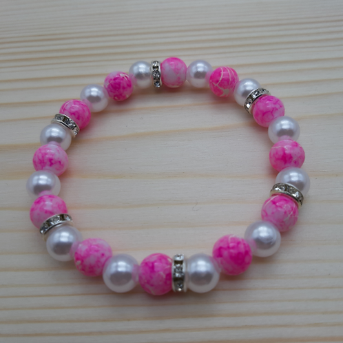 "Armkette ""Pink Girly"""