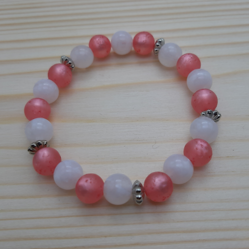 """Armkette """"Pink white"""""""