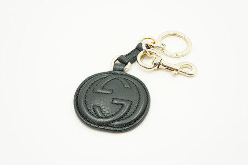Gucci GG Key Charm in Black Leather