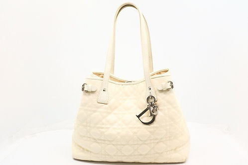 Dior Panarea Tote Bag in White Quilted Canvas