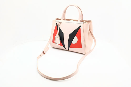 Fendi Monster 2-way Bag in Pink Coated Canvas