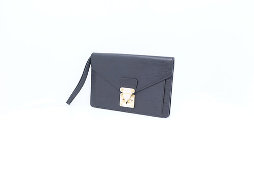 Louis Vuitton Sellier Dragonne Wristlet Epi noir