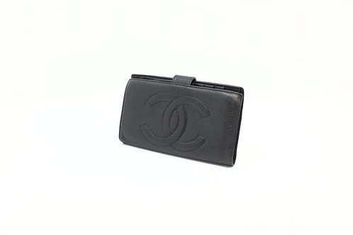Chanel Timeless Caviar Long Snap Wallet