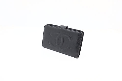 Chanel Timeless Caviar snap wallet black