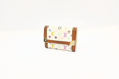 Buy preloved Louis Vuitton Card Case Multicolor White