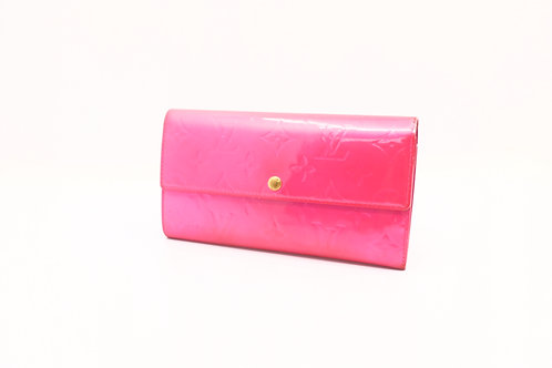 Louis Vuitton Sarah Long Wallet in Fuchsia Vernis Leather