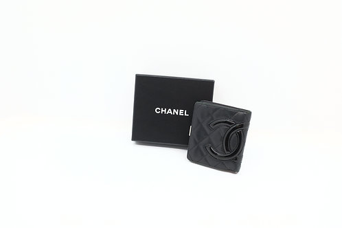 Buy pre owned Chanel Cambon compact wallet